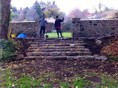 Walling and Steps